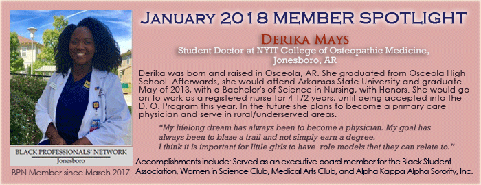 January 2018 Spotlight Derika Mays
