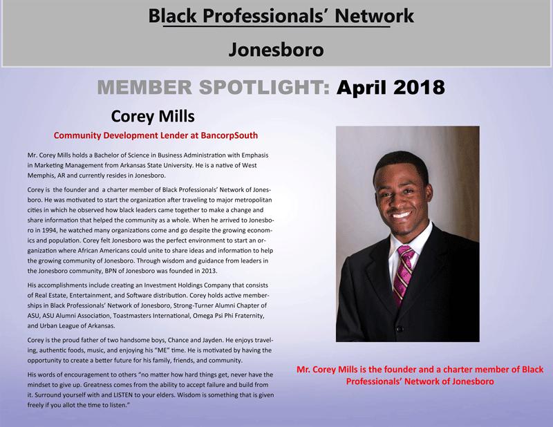 Member Spotlight 2018 – Black Professionals' Network of